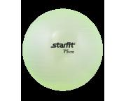 Гимнастический мяч Star Fit (диаметр 75 см), прозрачный зеленый