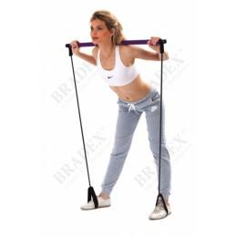 Палка гимнастическая с эспандерами «ПИЛАТЕС СТУДИО» в интернет-магазине