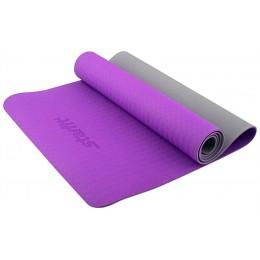 Коврик для йоги Star Fit TPE 173x61x0,5см фиолетовый/серый в интернет-магазине