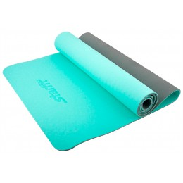 Коврик для йоги Star Fit TPE 173x61x0,6см мятный/серый в интернет-магазине