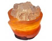 "Солевая лампа ""Вазон с кристаллами"", 3 - 4 кг"