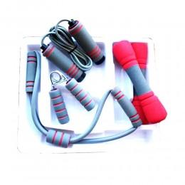 Набор для фитнеса 4 в 1 (гантели, скакалка, эспандер восьмерка, эспандер кистевой) в интернет-магазине