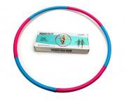 Мягкий гимнастический обруч Fashion Hula Hoop, голубой-фиолетовый, (1 кг)