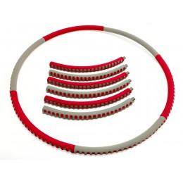 Мягкий гимнастический обруч Fashion Hula Hoop, красно-серый, (1 кг) в интернет-магазине