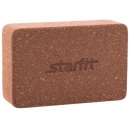 Блок для йоги Star Fit FA-102, пробка в интернет-магазине