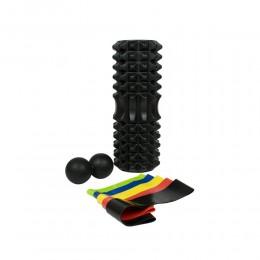 Набор для йоги (валик Strong S, массажер-орех, 5 эспандеров ленточных) в чехле в интернет-магазине