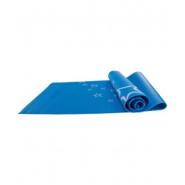 Коврик для йоги FM-102, PVC, 173x61x0,6 см, с рисунком, синий в интернет-магазине