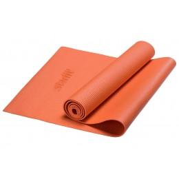 Коврик для йоги FM-101, PVC, 173x61x0,4 см, оранжевый в интернет-магазине