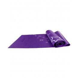 Коврик для йоги FM-102, PVC, 173x61x0,6 см, с рисунком, фиолетовый в интернет-магазине