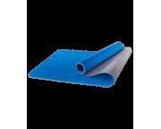 Коврик для йоги FM-201, TPE, 173x61x0,4 см, синий/серыйStarfit