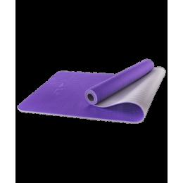 Коврик для йоги FM-201, TPE, 173x61x0,5 см, фиолетовый/серыйStarfit в интернет-магазине