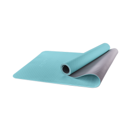 Коврик для йоги FM-201, TPE, 173x61x0,6 см, мятный/серыйStarfit в интернет-магазине