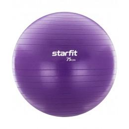 Фитбол GB-106, 75 см, с насосом, фиолетовый, антивзрыв в интернет-магазине