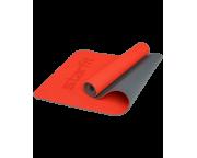 Коврик для фитнеса FM-202, TPE перфорированный, 173 x 61 x 0,5 см, ярко-красныйStarfit