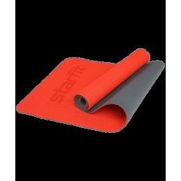 Коврик для фитнеса FM-202, TPE перфорированный, 173 x 61 x 0,5 см, ярко-красныйStarfit в интернет-магазине