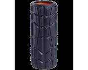 Ролик массажный FA-509, 33x13,5 cм, высокая жесткость, черный/оранжевый Starfit